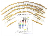 230 Piece Resistor Kit - 0.25W Carbon