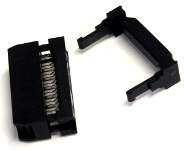 14-Way Ribbon Cable Mount Skt - Click Image to Close