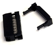 16-Way Ribbon Cable Mount Skt