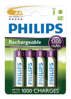 AA NiMH Rechargeable Batteries Pack of 4