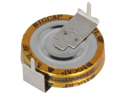1F 5.5V Horizontal-Mount Supercapacitor