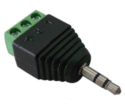 3.5mm Stereo Jack Plug to Screw Terminal Adaptor