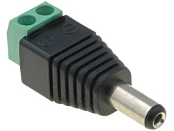 2.1mm DC Power Plug to Screw Terminal Adaptor