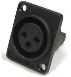 XLR Panel Socket 3-Pin Nylon