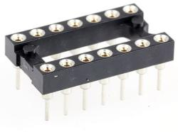 14-Pin DIL Socket Turned Pin