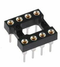 8-Pin DIL Socket Turned Pin