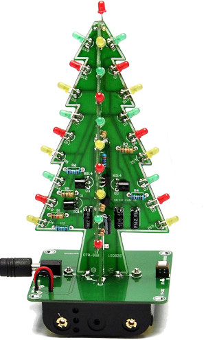 Flashing LED Xmas Tree Kit