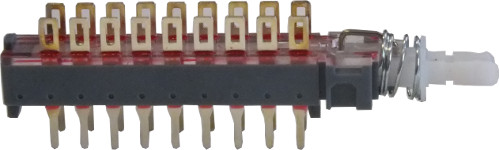 6-Pole latching c/o switch