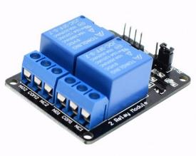 Relay Module 2-Ch 5V with Optocouplers.