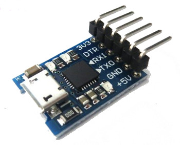 CP2102 6-pin micro-USB to TTL Serial
