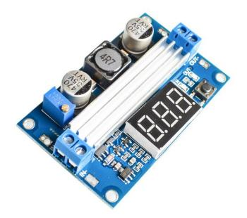 Step-Up DC/DC Converter LTC1871 with Voltage Display