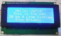 20x4 LCD Display Module with Blue Backlight