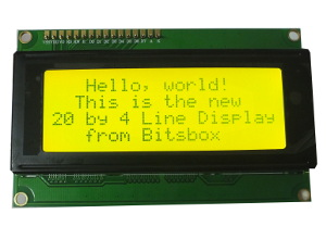 20x4 LCD Display G/Y Backlight and I2C