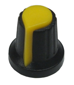 Budget Potentiometer Knob Yellow