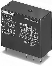 12Vdc DPDT Mains Power Relay Omron G2R-24-12DC
