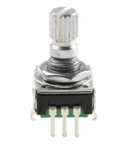 Rotary Encoder - 24 step with Switch Knurled 15mm