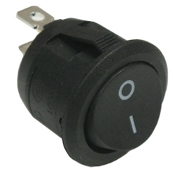 Budget 2 Position SPST round rocker switch
