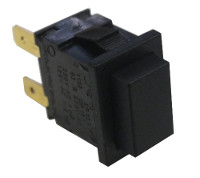 Black latching push switch 12A