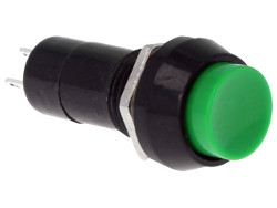 Green momentary push switch - round button. - Click Image to Close