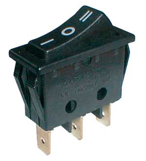SP3T Rocker Switch ON-OFF-ON 16A/250V